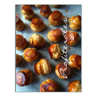 Cartão do caramelo de Profiteroles