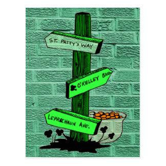 Cartão do cargo de sinal do dia de St Patrick