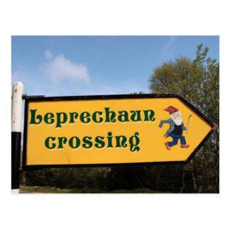 cartão do cargo de sinal do leprechaun