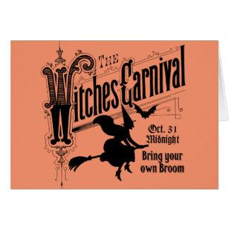 Cartão do carnaval das bruxas para o Dia das