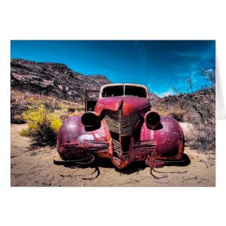 Cartão do carro antigo