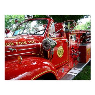 Cartão do carro de bombeiros….