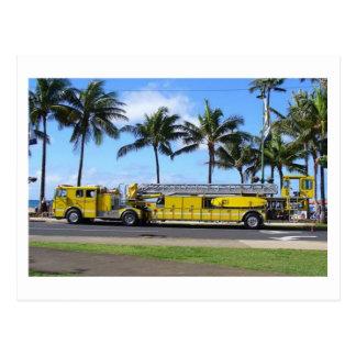Cartão do carro de bombeiros de Havaí