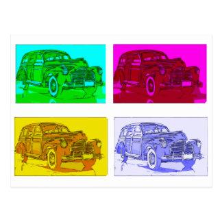 Cartão do carro do pop art