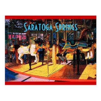 Cartão do carrossel de Saratoga