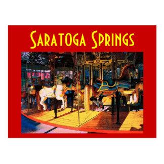 Cartão do carrossel de Saratoga - personalizado