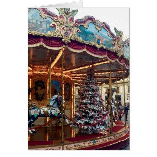 Cartão do carrossel do Natal