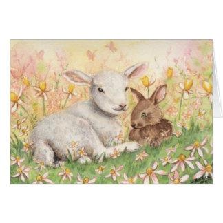 """Cartão Do """"cartão cordeiro & do coelho"""""""