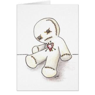 """Cartão Do """"cartão da boneca Voodoo"""""""