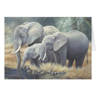 """Cartão Do """"cartão da família elefante"""""""