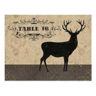 Cartão do cartão da mesa da silhueta do fanfarrão cartões postais