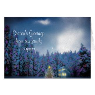 """Cartão Do """"cartão da paz Natal"""""""