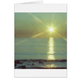 """Cartão Do """"cartão da Todo-ocasião do oceano por do sol"""""""