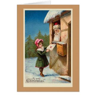 """Cartão Do """"cartão de Natal do correio Natal"""""""