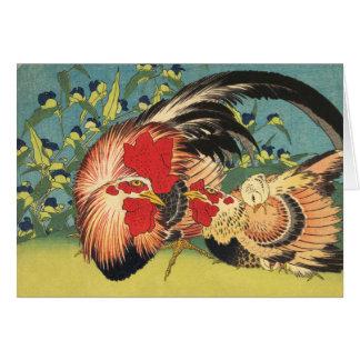 """Cartão Do """"cartão de nota galo, da galinha e da galinha"""""""