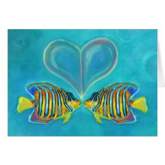 """Cartão Do """"cartão do amor Angelfish"""" - arte por Charis D"""