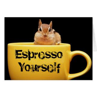 """Cartão Do """"cartão do Chipmunk café você mesmo"""""""