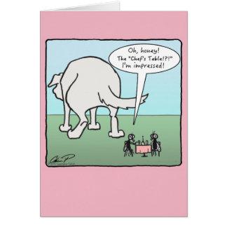 """Cartão Do """"cartão do dia dos namorados da mesa cozinheiro"""