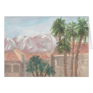 """Cartão Do """"cartão do esboço da aguarela Palm Springs /CA"""""""