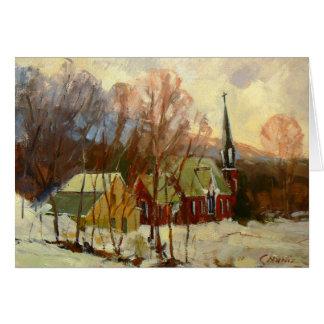 """Cartão Do """"cartão do feriado da igreja inverno"""""""