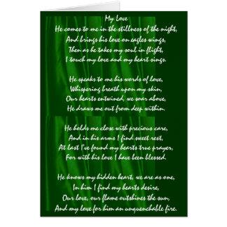 """Cartão Do """"cartão dos namorados meu amor"""" - verde"""