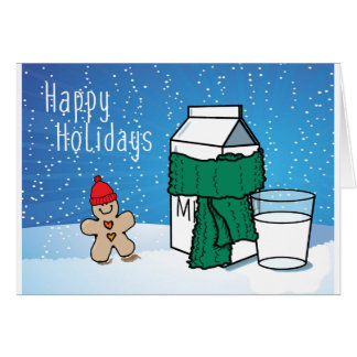 """Cartão Do """"cartão engraçado do feriado da neve leite & do"""