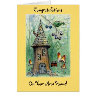 """Cartão Do """"cartão Home novo feliz da casa duende"""""""