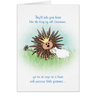 """Cartão Do """"cartão leão e do cordeiro"""""""