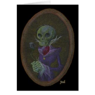 """Cartão Do """"cartão senhor Cadáver"""""""
