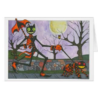 """Cartão Do """"cartão vazio do gato & do bolso Dia das"""