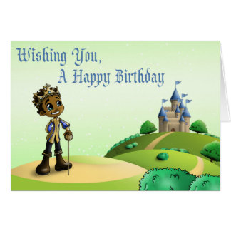 """Cartão Do """"cartões de aniversário príncipe Jamal """""""