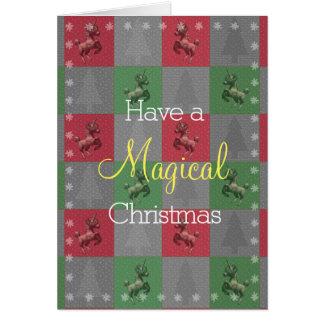 """Cartão Do """"cartões de nota do Natal do unicórnio feriado"""""""