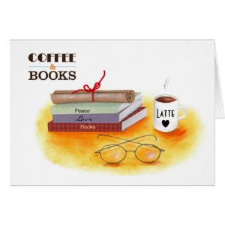 """Cartão Do """"cartões de nota dos livros do amor do café"""