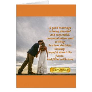 Cartão do casamento