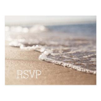 Cartão do casamento de praia RSVP
