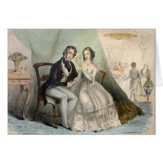 Cartão do casamento do Victorian