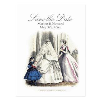 Cartão do casamento do Victorian (salvar o dia)