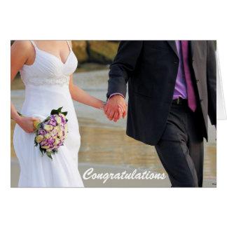 Cartão do casamento dos noivos