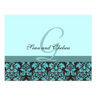 Cartão do casamento RSVP Cartão Postal