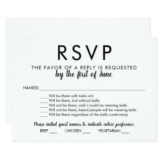Cartão | do casamento RSVP com Bels sobre