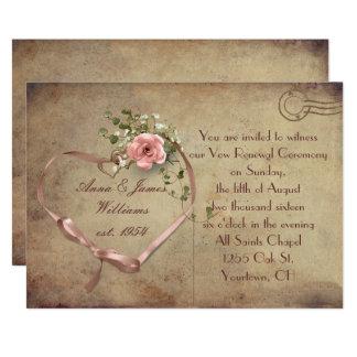 Cartão do casamento vintage