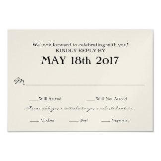 Cartão do casamento vintage RSVP com seleções da