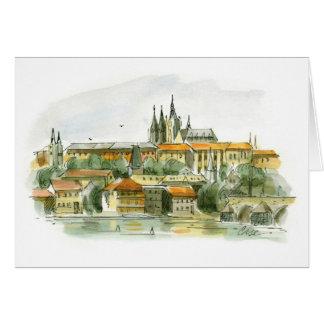 Cartão do castelo de Praga