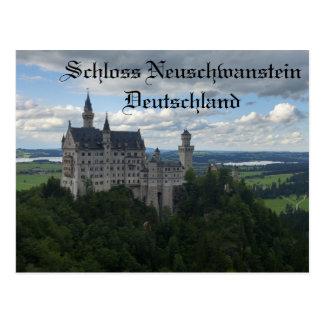 Cartão do castelo de Schloss Neuschwanstein
