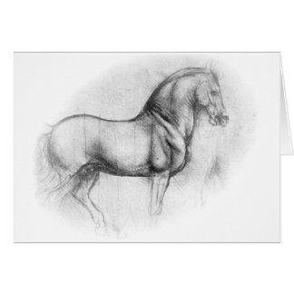 Cartão do cavalo de Leonardo da Vinci