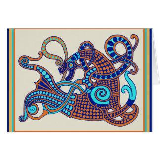 Cartão do cavalo de Viking do céltico