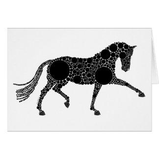 Cartão do cavalo do adestramento