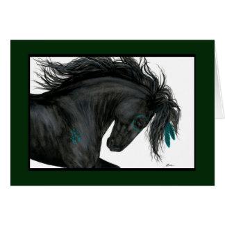 Cartão do cavalo do feliz aniversario por Bihrle