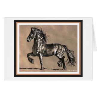 Cartão do cavalo do frisão