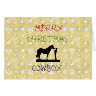 Cartão do cavalo do vaqueiro da coleção do Natal